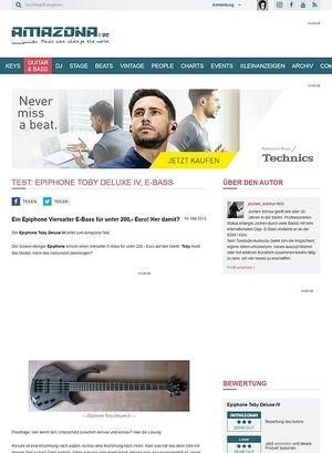 Amazona.de Test: Epiphone Toby Deluxe IV, E-Bass