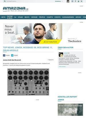 Amazona.de Top News: Jomox, ModBase 09, Mod.Brane 11, Drum-Module