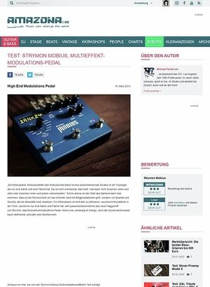 Amazona.de Test: Strymon, Mobius, Multimodulationseffekt