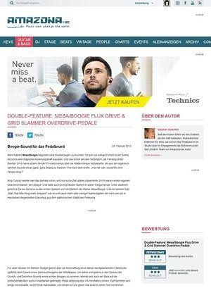 Amazona.de Double-Feature: Mesa/Boogie Flux Drive & Grid Slammer Overdrive-Pedale