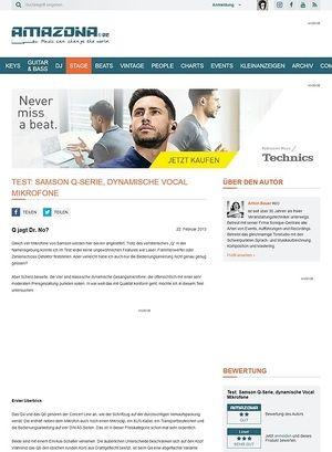 Amazona.de Test: Samson Q-Serie, dynamische Vocal Mikrofone