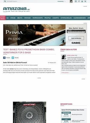 Amazona.de Test: Ibanez P3110 Promethean Bass Combo, Verstärker für E-Bass