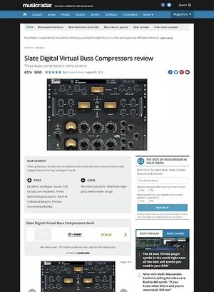 MusicRadar.com Slate Digital Virtual Buss Compressors