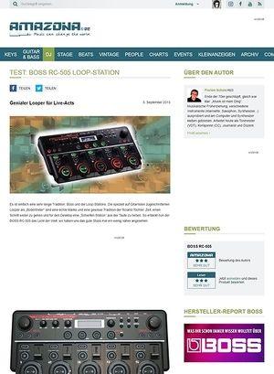Amazona.de Test: BOSS RC-505, Loop-Station