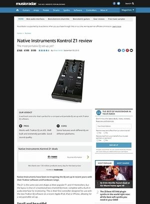MusicRadar.com Native Instruments Kontrol Z1