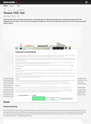 Bonedo.de Tonelux TX5C Test