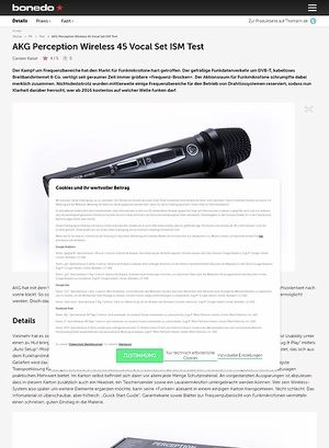 Bonedo.de AKG Perception Wireless 45 Vocal Set ISM Test