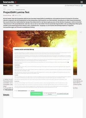 Bonedo.de ProjectSAM Lumina Test