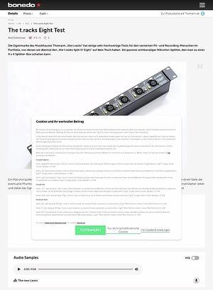 Bonedo.de The t.racks Eight Test