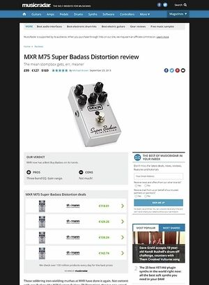 MusicRadar.com MXR M75 Super Badass Distortion
