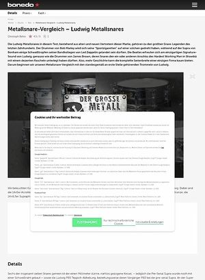 Bonedo.de Ludwig Metallsnares