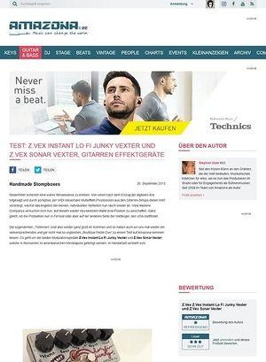 Amazona.de Test: Z.Vex Instant Lo Fi Junky Vexter und Z.Vex Sonar Vexter, Gitarren Effektgeräte