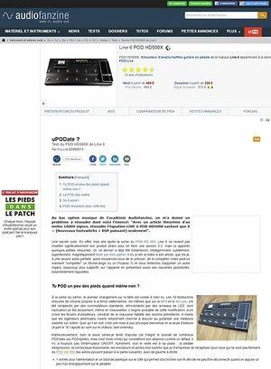 Audiofanzine.com Line 6 POD HD500X