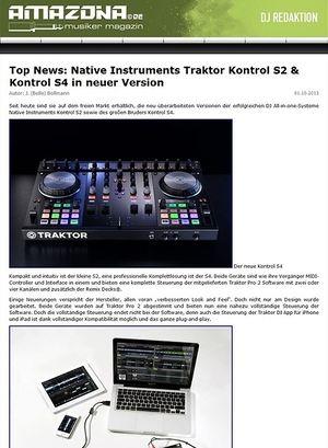 Amazona.de Top News: Native Instruments Traktor Kontrol S2 & Kontrol S4 in neuer Version