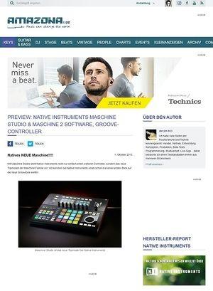 Amazona.de Preview: Native Instruments Maschine Studio & Maschine 2 Software, Groove-Controller