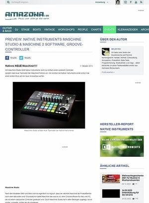 Amazona.de Preview: Native Instruments Maschine Studio & Maschine 2 Software, Groove-Controller