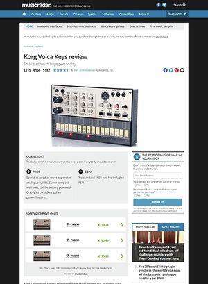 MusicRadar.com Korg Volca Keys