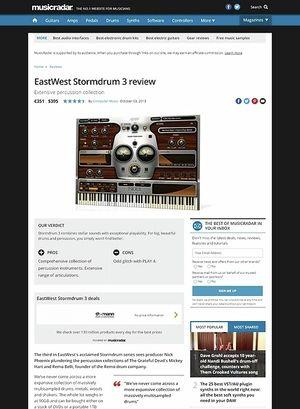 MusicRadar.com EastWest Stormdrum 3