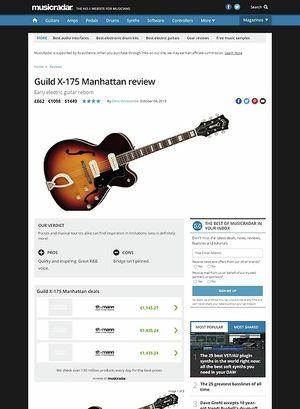 MusicRadar.com Guild X-175 Manhattan