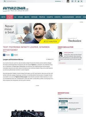 Amazona.de Test: Pigtronix Infinity Looper, Gitarren Effektgerät