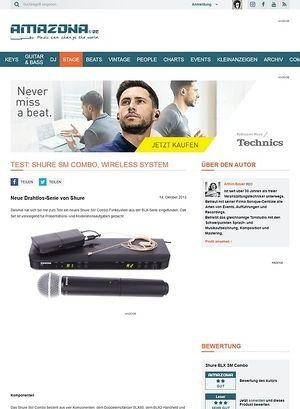 Amazona.de  Test: Shure SM Combo, Wireless System