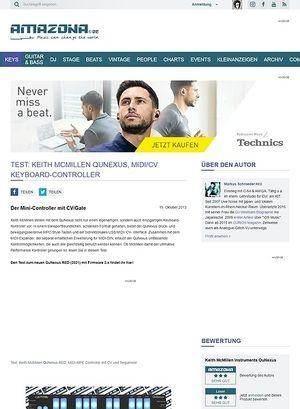 Amazona.de Test: Keith McMillen QuNexus, MIDI/CV Keyboard-Controller