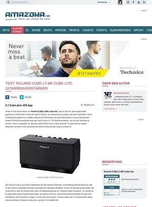 Amazona.de Test: Roland CUBE-LT-BK Cube Lite, Gitarrenverstärker
