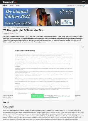 Bonedo.de TC Electronic Hall Of Fame Mini Test
