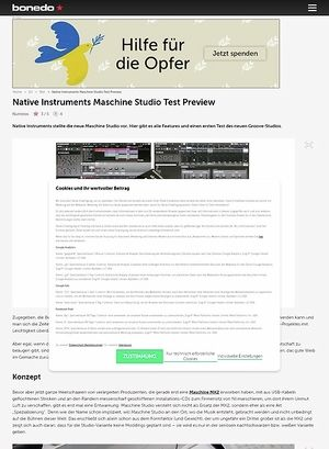 Bonedo.de Vorschau: Native Instruments Maschine Studio