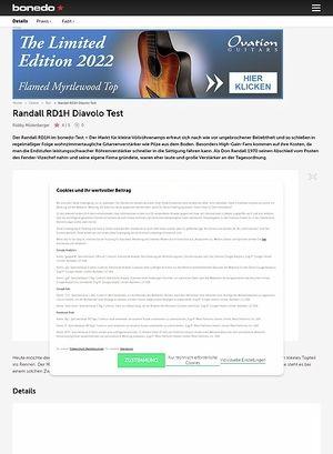 Bonedo.de Randall RD1H Diavolo Test