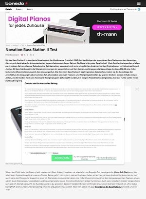 Bonedo.de Novation Bass Station II Test