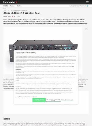 Bonedo.de Alesis MultiMix 10 Wireless Test