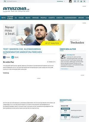 Amazona.de Test: Samson C02, Kleinmembran Kondensator Mikrofon-Pärchen