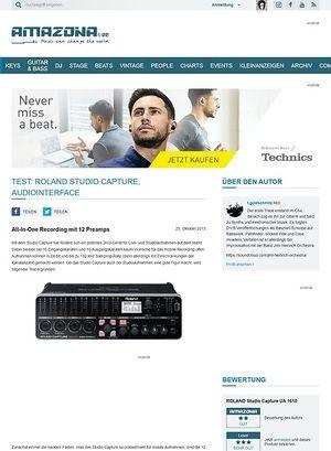 Amazona.de Test: Roland Studio Capture, Audiointerface