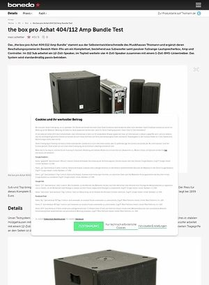 Bonedo.de the box pro Achat 404/112 Amp Bundle Test