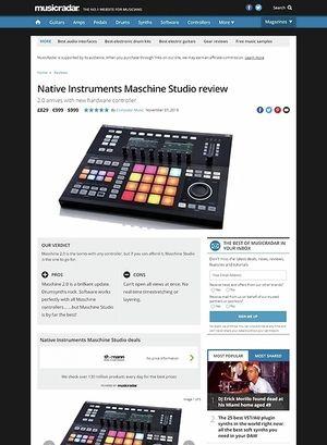 MusicRadar.com Native Instruments Maschine Studio