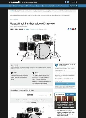 MusicRadar.com Mapex Black Panther Widow Kit