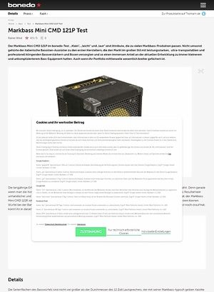 Bonedo.de Markbass Mini CMD 121P Test