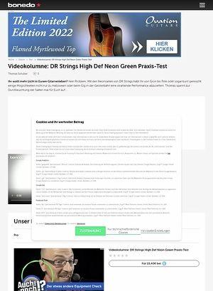 Bonedo.de Videokolumne: Grün besaitet!