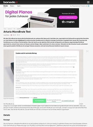 Bonedo.de Arturia MicroBrute Test
