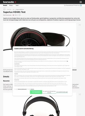 Bonedo.de Superlux HD681