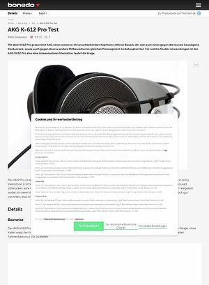 Bonedo.de AKG K-612 Pro Test