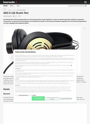 Bonedo.de AKG K-121 Studio Test