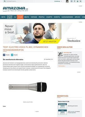 Amazona.de Test: Electro-Voice PL 80c, dynamisches Gesangsmikrofon