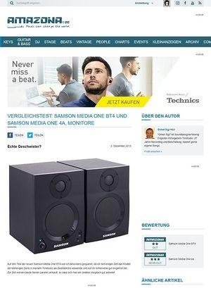 Amazona.de Vergleichstest: Samson Media One BT4 und Samson Media One 4a, Monitore