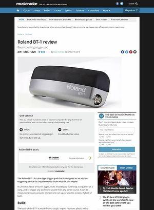 MusicRadar.com Roland BT-1