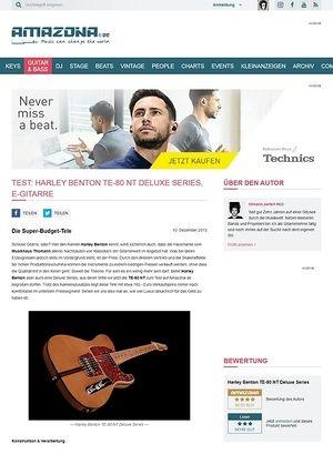Amazona.de Test: Harley Benton TE-80 NT Deluxe Series, E-Gitarre