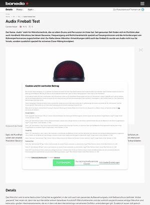 Bonedo.de Audix Fireball Test