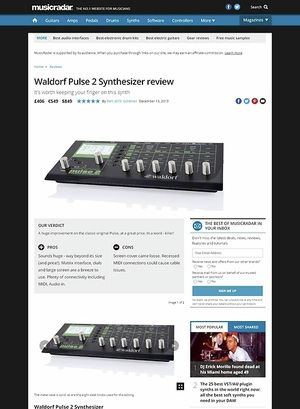 MusicRadar.com Waldorf Pulse 2 Synthesizer
