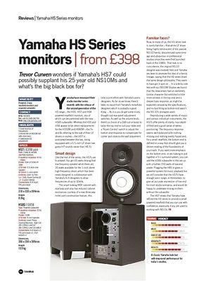 Future Music Yamaha HS Series monitors